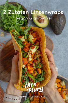 Linsen Pfannkuchen - schnell & einfach - Mrs Flury - gesunde Rezepte No Calorie Foods, Low Calorie Recipes, Vegan Recipes, Vegan Food, Omelet, Clean Eating, Veggies, Ethnic Recipes, Instagram