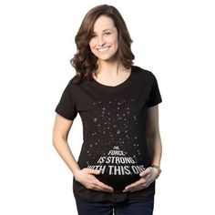 Shop for Women s Maternity The Force Is Strong with this One Cotton T-shirt. abbe11d84