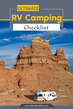 This is a comprehensive RV Camping Checklist with downloadable PDF so you can check everything off as you pack it into your RV.  #rv #rvcamping #rvpacking #rvchecklist #campingchecklist #rvpackinglist #camping Rv Camping Checklist, Rv Camping Tips, Family Road Trips, Road Trip Usa, Rv Parks, State Parks, Cruise America, Travel Trailer Living, Travel Usa
