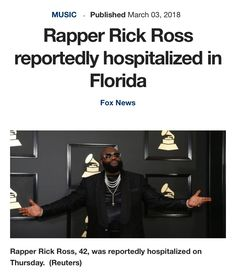 "#AOENEWS: Police responded after receiving a 911 call at 3:30 a.m. Thursday that said Rapper #RickRoss was unresponsive and ""slobbing [sic] at the mouth,"" He's had an experience with #seizures. We send our prayers for a speedy recovery for Rick Ross 🙏🏾 Read More"