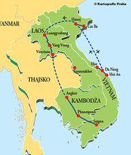 mapa_2013 - Laos - Vietnam - Kambodža