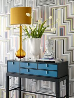 Staggered Shelves above the office nook? Furniture Decor, Painted Furniture, Decorative Paint Finishes, Office Nook, Inside Home, Wall Cladding, Home Decor Inspiration, Design Inspiration, Decor Ideas