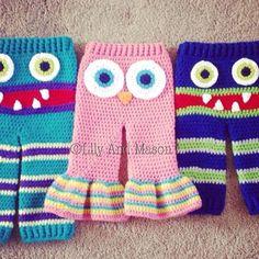 CROCHET PATTERN- owl pants, crochet pants, crochet owl pants, owl pattern, owls, crochet clothing, owl pattern, owl crochet pattern, crochet by LilyandMasonboutique on Etsy https://www.etsy.com/listing/522724893/crochet-pattern-owl-pants-crochet-pants