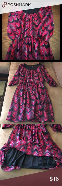 IZ Byer Chevron Dress Worn once for my wedding rehearsal! In wonderful condition! Iz Byer Dresses Mini