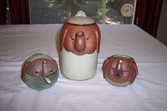 Find many great new & used options and get the best deals for Vintage UCTCI Elephant Figural Tea Set – Teapot, Creamer, Sugar at the best online prices at eBay! Free shipping for many products! Tea Pot Set, Pot Sets, Pottery Teapots, Elephant, Vintage Ceramic, Sugar, Ceramics, Ebay, Free Shipping