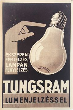 Budapest Poster Gallery is based in Budapest, Hungary, dealing in all kinds of original vintage posters and ephemera, offering worldwide shipping. Vintage Ads, Vintage Posters, Vintage Packaging, Lightbulb, Graphic Design Posters, Illustrations And Posters, Vintage Lighting, Appliance, Radios