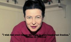 The French writer Simone de Beauvoir was born on this day in 1908.