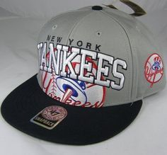 New York Yankees MLB 47 Brand Vintage Grey Blockhouse MVP Snap Back Hat by '47 Brand. $19.95. Officially Licensed. Snap back. Quality embroidery. Help support your favorite team in this MLB Retro Snap Back Hat from Twins Enterprises 47 Brand. Features embroidered logo's, stylish adjustable snap back, and contrasting team colors for added style. Officially licensed by the Major League Baseball.