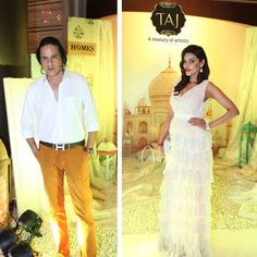 Actor Rahul Roy and Actress Gizele Thakral at Taj Santacruz #TajCollection #LaunchParty #HomesFurnishings #HomeDecor #HomeFabricCollection #RahulRoy #GizeleThakral