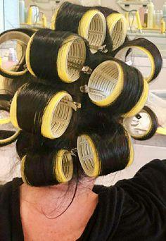 Big Hair Rollers, Sleep In Hair Rollers, Wet Set, Curlers, Vintage Glamour, Perm, Hair Dryer, Hair Beauty, Hair Styles