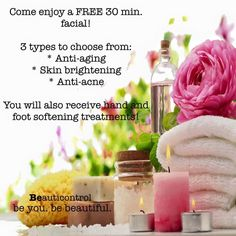Free 30 Minute Facials...book your next Spa event with me Bcspaking@gmail.com