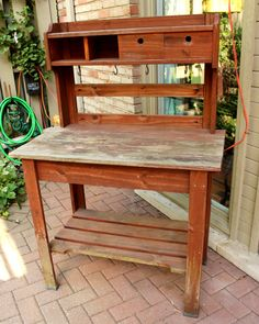 If I Had A Hammer On Pinterest Potting Benches Potting Bench Plans And Garden Benches
