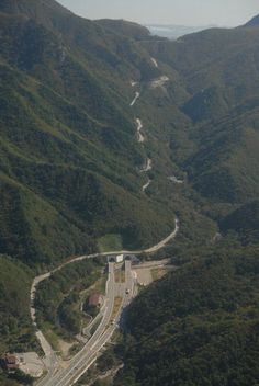 #Misiryeong Ridge, #Sokcho, Korea - There are two ways to get from Inje to Sokcho: one is through the 'Misiryeong Tunnel' and the other is to go over 'Misiryeong Ridge'. If you have more time to appreciate nature, you should take the mountain route because magnificent scenery awaits visitors at the peak.