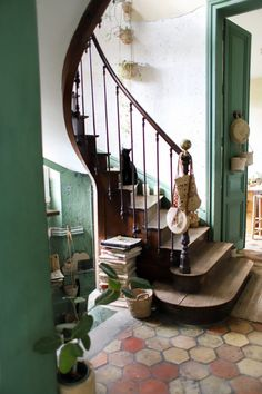 Decoration Cage Escalier, Decoration Hall, Georgian Homes, The Design Files, Interior Exterior, First Home, Stairways, My Dream Home, Fresco