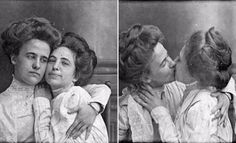 The First Lesbian Lover Selfies Ever Taken, ca. 1900 ~ vintage everyday