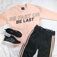 No one comes last in our new MOVE collection (trophy emoji) Cute Gym Outfits, Workout Outfits, Sporty Outfits, Workout Wear, Kids Outfits, Sport Fashion, Teen Fashion, Fashion Outfits, Lounge Outfit