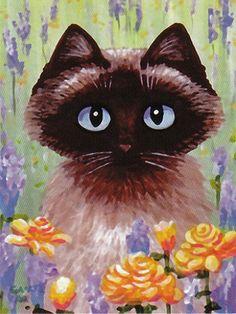 Siamese Burmese Ragdoll Cat Notecards Greeting by creationarts, $7.99