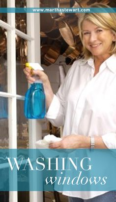 How to Wash Your Windows | Martha Stewart Living - Washing windows doesn't have to be a chore. If you have the right tools and these tips, the process is quick and easy. Keep all your window-washing tools in one plastic or metal bucket (and use a second bucket to mix cleaning solutions).