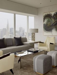 Sky high glamour showcased in Russian Hill Home - San Francisco by Jeffers Design Group collaborated with Sutro Architects