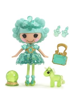 Clarity Glitter Gazer was made from an Emerald and has the ability to see into the near future. She always knows exactly what her friends are thinking, but she likes to keep it secret so she can surprise them by finishing their sentences! She has a pet unicorn.