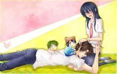 Tags: Anime, Iwonn, Beelzebub, Oga Tatsumi, Kunieda Aoi, Baby Beel, Baby