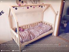 Børne hus seng med mål 1/3