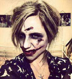 Zombie, corpse bride. Halloween Makeup Tutorial
