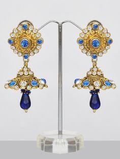 Blue Jhumka Earrings - Costume Jewellery India