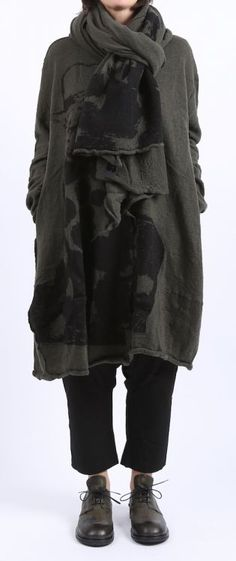 rundholz black label - Strickkleid Paddington Ballonform gekochte Wolle beluga - Winter 2016