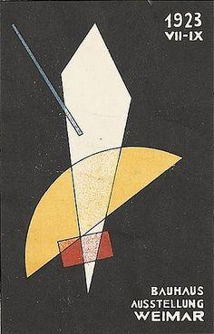By László Moholy-Nagy (1894-1946), 1923, Bauhaus Ausstellung Weimar. (Postcard)