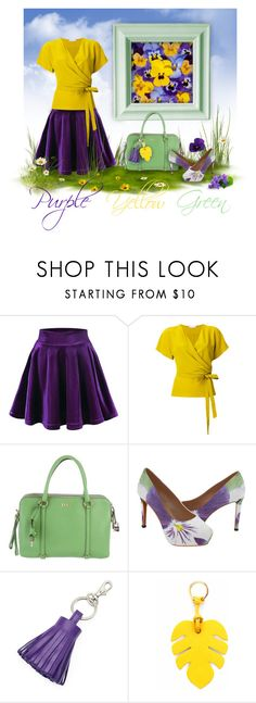 Purple, Yellow & Green woman outfit by @savousepate on @polyvore #summer #spring #flowers #pansies