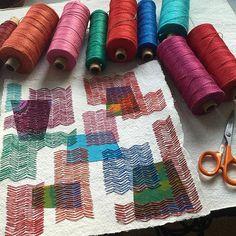 Paper Stitching by Karin Lundström