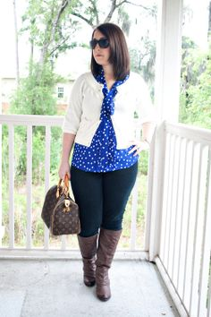 Dainty and Decadent: Blue Polka Dots
