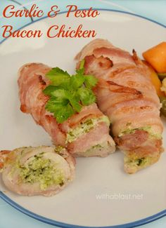 Tender, juicy and deliciously Cream Cheese filled Chicken wrapped in Bacon ! Seconds WILL be requested ;-)