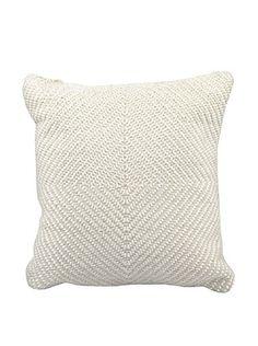 Joseph Abboud Woven Luster Pillow, Ivory, 16