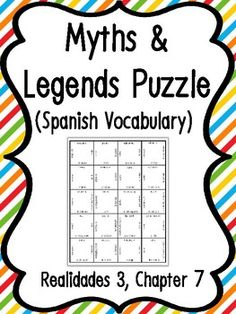 Cut apart the puzzle and have students match up English-Spanish vocabulary for a fun and quick review! Students may want to compete to finish the puzzle, take their time, or complete the puzzle in stations. I sometimes send these puzzles home as well so that students can cut them apart and do them at home for Spanish Vocabulary Games, Puzzles, Fun, Students, English, Learning English, Cut Outs, Studio, Puzzle