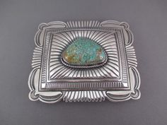 BU8334 Turquoise Belt Buckle with Carico Lake Turquoise by Navajo jewelry artist, Arnold Blackgoat photo 2 Thing 1, Navajo Jewelry, Silver Belts, Belt Buckles, Nativity, Turquoise Bracelet, Native American, Sterling Silver, Artist