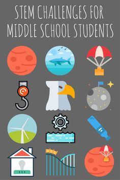 These 12 stem activities are perfect for middle school and upper elementary science classrooms. each of the stem projects provides real-world challenges for Elementary Science Classroom, Middle School Classroom, Middle School Science, Upper Elementary, Middle School Stem, Classroom Ideas, Middle School Activities, Homeschool High School, Outdoor Classroom