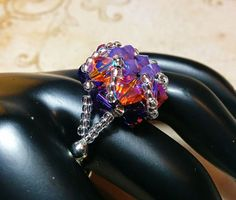 The Abby Cyclamen Opal Topaz and Purple by NiteDreamerDesigns
