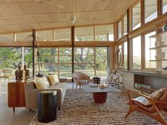 Mid-century modern living room. A prime example of the period's interior design and architecture.