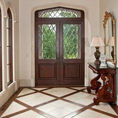Wood And Tile Floor Design Ideas, Pictures, Remodel, and Decor – Flooring Foyer Design, Küchen Design, Tile Design, House Design, Interior Design, Design Ideas, Tiles Design For Hall, Design Trends, Entrance Design