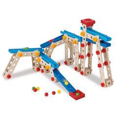 Bouw je eigen knikkerbaan met deze 140-delige set van HEROS. Geschikt voor kindjes vanaf 4 jaar. Te vinden bij Sassefras Meisjes Speelgoed voor écht peuter en kleuter speelgoed.