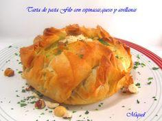 Les receptes del Miquel: Tarta de pasta Filo con espinacas, queso y avellanas