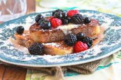 Vegan Banana-Almond French Toast. I don't like the regular kind with egg, but this sounds yummy!