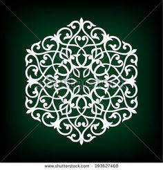Rosette. Design elements. Arabesque. Vector illustration. - stock vector