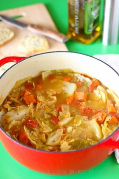 Recipe for 7 Day Cabbage Soup Diet Light and Healthy Cabbage Soup (with Easy Cheese Toasts) - Willow Bird Baking Cabbage Recipes, Soup Recipes, Cooking Recipes, Cabbage Meals, Potato Recipes, Dinner Recipes, Healthy Soup, Healthy Eating, Healthy Recipes