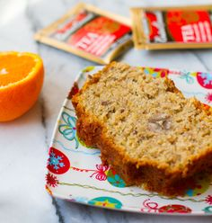 """This Citrus & Spice Banana Bread is infused with """"Constant Comment""""® black tea from Bigelow. Warm and cozy, this moist tea bread is perfect to serve around the holiday season."""
