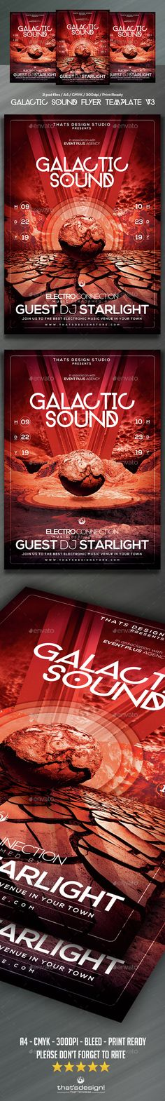 Glam Night Flyer Template  Graphicriver Flyer Templates