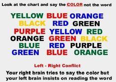 mind games, tests, color test
