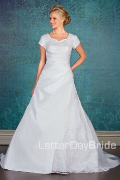 Modest Wedding Dress, Glenwood | LatterDayBride & Prom. Modest Mormon LDS Temple Dress
